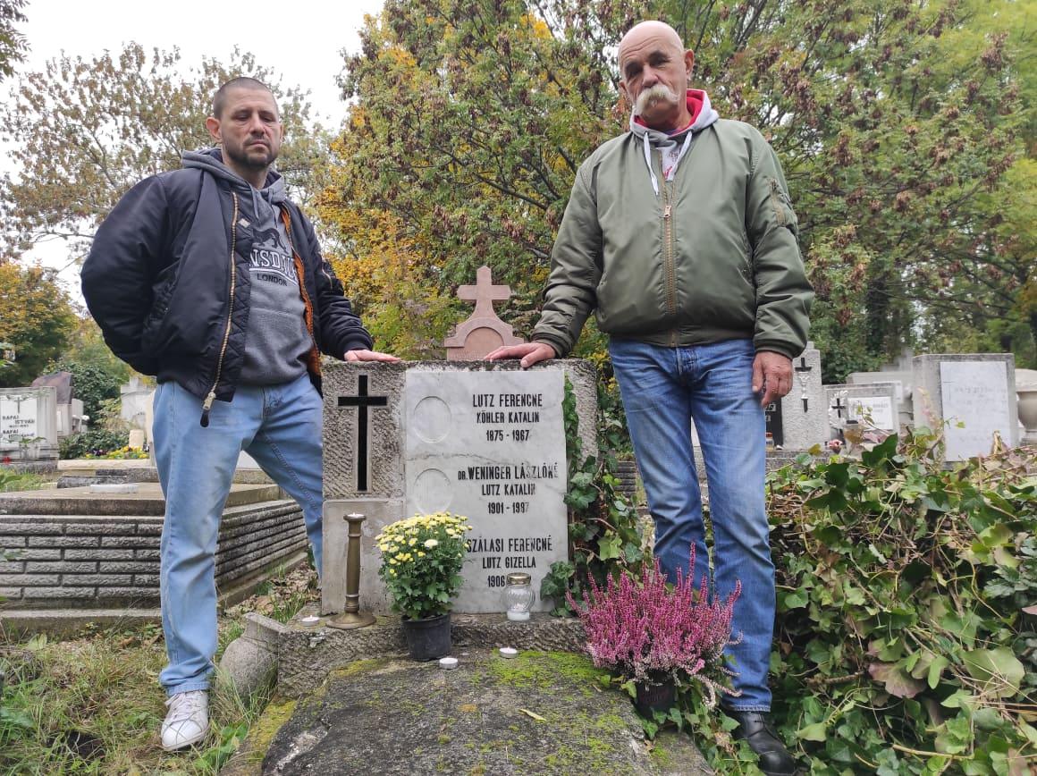 Látogatás Lutz Gizella sírjánál